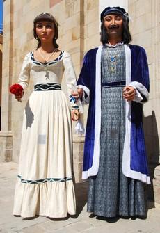 Els gegants Anastasi i Maria.