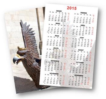 El calendari 2015 de l'Àliga de la Ciutat