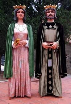 Els gegants Ferrer de Gualbes i Elionor de Santcliment