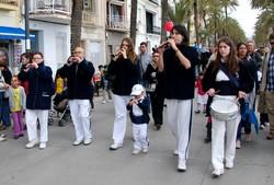 Els músics de la Colla de Geganters de Badalona