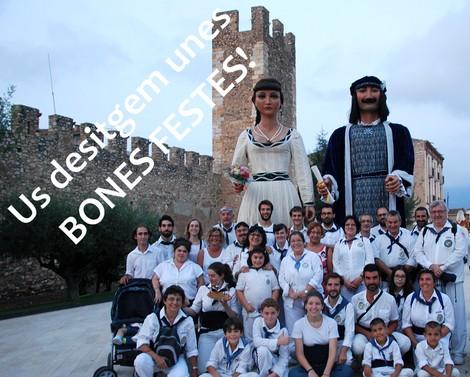 Des de la Colla de Geganters de Badalona us volem desitjar unes BONES FESTES!