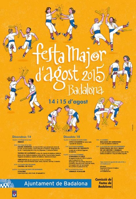 Cartell de la Festa Major de Badalona 2015