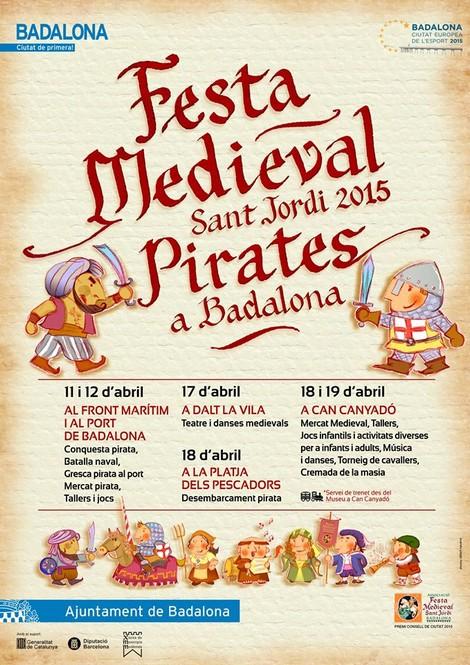 Cartell de la Festa Medieval de Badalona 2015