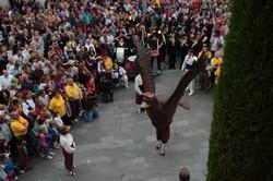 L'Àliga ballant el dia del Pregó