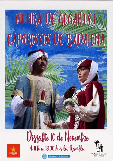 Cartell de la VII Fira de Gegants i Capgrossos de Badalona
